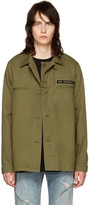 Saint Laurent Khaki Military Jacket