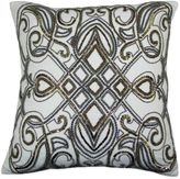 Bed Bath & Beyond Festivo Beaded Square Throw Pillow in Gold/Silver