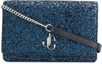 Jimmy Choo mini Palace glitter clutch bag