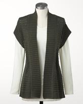 Coldwater Creek Stitch detail vest
