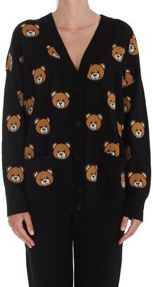 Moschino Teddy Intarsia Knit Cardigan