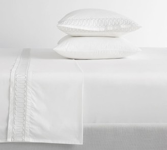 Pottery Barn Monique Lhuillier Margaux Embroidered Organic Cotton Sheet Set