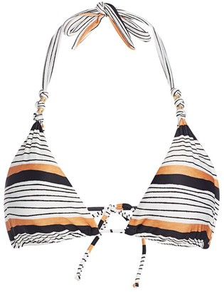 ViX by Paula Hermanny Ava Striped Triangle Bikini Top