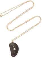 Cvc Stones West Hampton 18-karat Gold, Stone And Diamond Necklace - one size