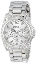 August Steiner Women's AS8075SS Quartz Multifunction Silver-tone Bracelet Watch