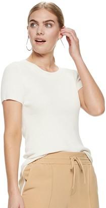 Nine West Women's Short Sleeve Sweater Tee