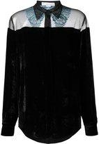 Stella McCartney 'Caroline' velvet shirt - women - Silk/Cotton/Polyester/Viscose - 44