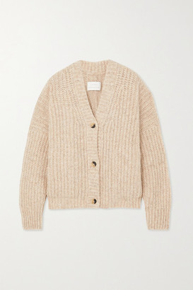 LAUREN MANOOGIAN Grandma Ribbed Pima Cotton, Alpaca And Wool-blend Cardigan - Cream