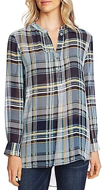 Vince Camuto Plaid Tunic Top