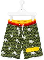 MSGM palm tree shorts - kids - Cotton - 12 yrs