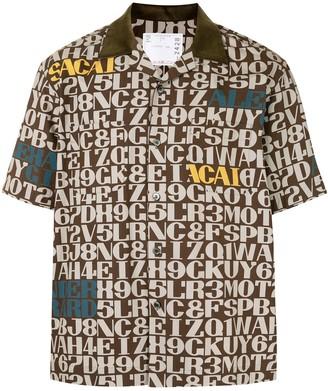 Sacai Script Print Short-Sleeved Shirt