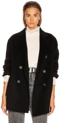 Acne Studios Odine Double Coat in Black | FWRD