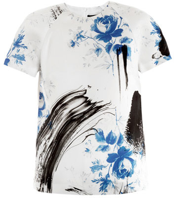 Christopher Kane Dutch-print blouse