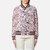 Coach Women's Reversible Satin Varsity Jacket Shell Multi