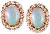 LeVian Le Vian® Opal (3/4 ct. t.w.) and Diamond (1/4 ct. t.w.) Stud Earrings in 14k Rose Gold