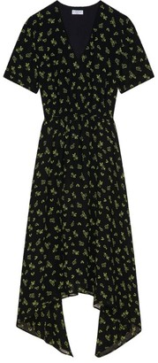 Claudie Pierlot Floral Asymmetric Dress