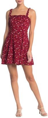 re:named apparel Izzy Ruffle Mini Dress