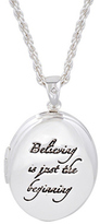 Disney White Gold Plated Believing Tinkerbell Locket