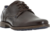 Dune Bran Leather Derby Shoes, Brown