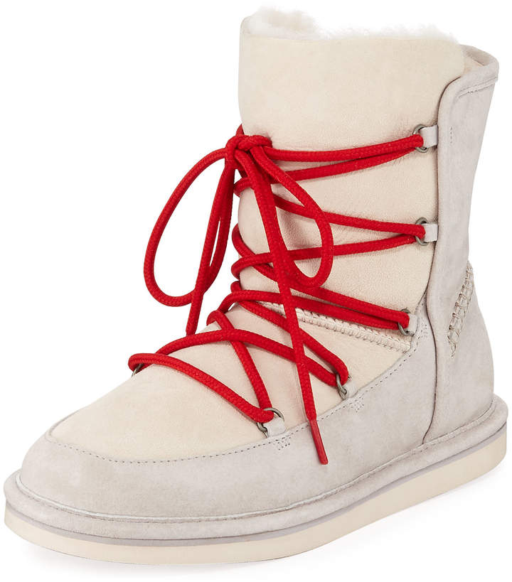 9e4fb933a87 Lodge Fur-Lined Lace-Up Boots
