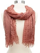 Charlotte Russe Lace Stripe Woven Scarf