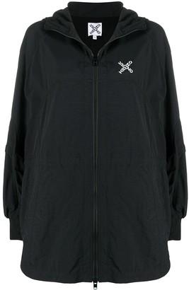 Kenzo Logo Print Zipped Jacket