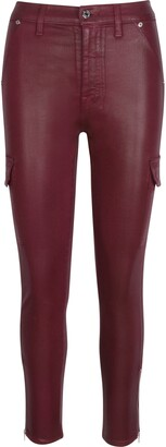 Seven London Coated Skinny Cargo Pants