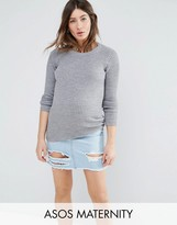Asos Jumper With Crew Neck In Rib