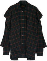 Vivienne Westwood Fever Oversized Checked Cotton-blend Voile Shirt - Black