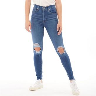 Levi's Womens Mile High Super Skinny Jeans Quebec Storm