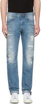 Diesel Blue Destroyed Buster Jeans