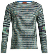 Missoni Long-sleeved striped cotton top