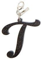 Edie Parker Alphabet T Bag Charm, Starlight Silver