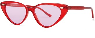 Cutler & Gross 1330 Red Cat-eye Sunglasses
