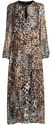 Seventy Leopard Silk Maxi Dress