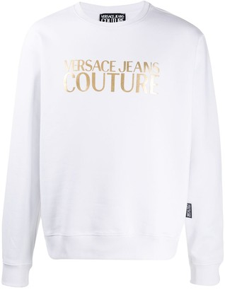 Versace metallic logo jumper