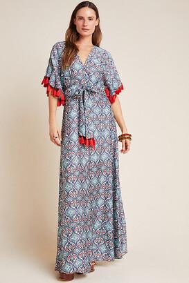Sachin + Babi Tasseled Maxi Dress By in Blue Size 2