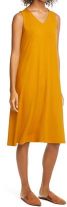 Eileen Fisher Sleeveless V-Neck Flare Dress