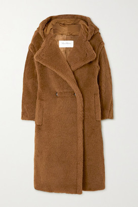 Max Mara Teddy Bear Icon Hooded Alpaca And Wool-blend Coat - Brown