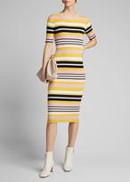 Frame Baja Stripe Bodycon Dress