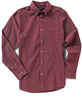 Roundtree & Yorke Trim Fit Long-Sleeve Checked Sportshirt