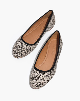 Madewell The Reid Ballet Flat in Spotted Calf Hair