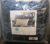 Martha Stewart 3 Pc Deco Pillow Set Indigo Damask