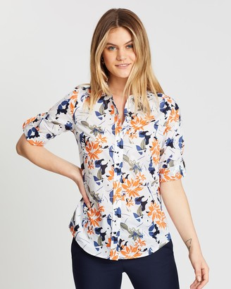 Sportscraft Lily Voile Skye Print Shirt