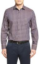 John W. Nordstrom Regular Fit Cotton & Wool Check Sport Shirt