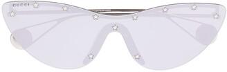 Gucci Cat Eye Mask Sunglasses