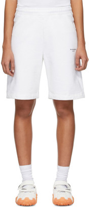 Acne Studios White Reverse Logo Shorts