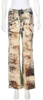 Just Cavalli Abstract Print Wide-Leg Jeans