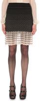 Alexander McQueen Frilled stretch-knit skirt