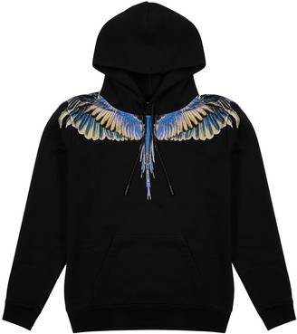 Marcelo Burlon County of Milan Wings printed hooded cotton sweatshirt